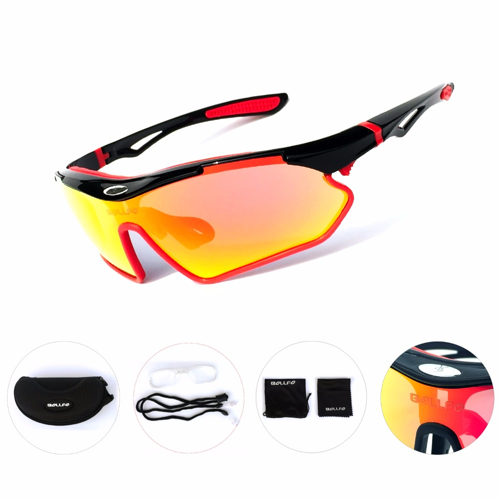 2018 Polarized Cycling Glasses Unisex UV400 Outdoor Sport Sunglasses Motorcycle Bicycle Riding Fietsbr Windproof Fishing Eyewear