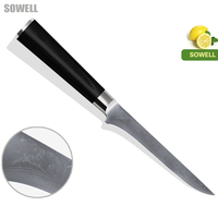 NEW SOWELL Brand Damascus Knife Family Practical 6 Inch Boning Knife 9Cr18Mov Stainless Steel Color Wood