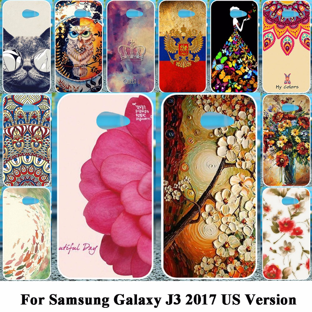 Galleria fotografica Akabeila Phone Case For Samsung Galaxy J3 2017 J330F/DS J3 Pro 2017 US Version Cover Hard Plastic Phone Shell Coque Fundas
