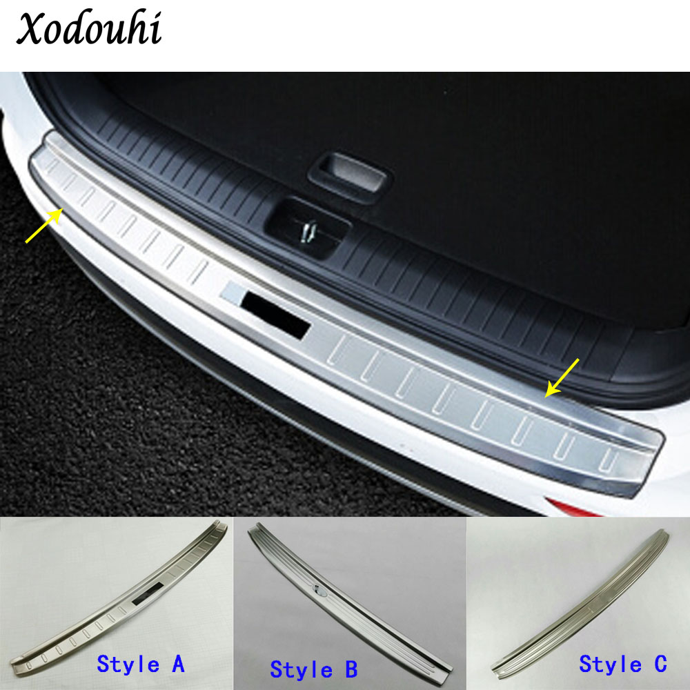 car styling external rear bumper Protect trunk trim cover Stainless Steel plate pedal 1pcs for Kia Sportage KX5 2016 2017 2018 2 pcs set stainless steel car air vent circle trim air conditioner protection sticker for kia sportage kx5 ql 2016 2017 parts