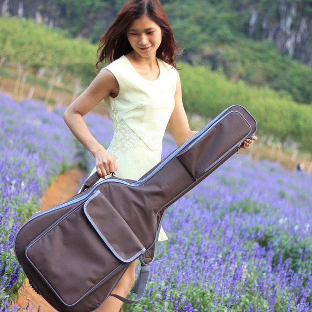Good quality Professional protable 41 acoustic bass guitar case padded soft gig bag backpack cover concerts bolsa shoulder strap