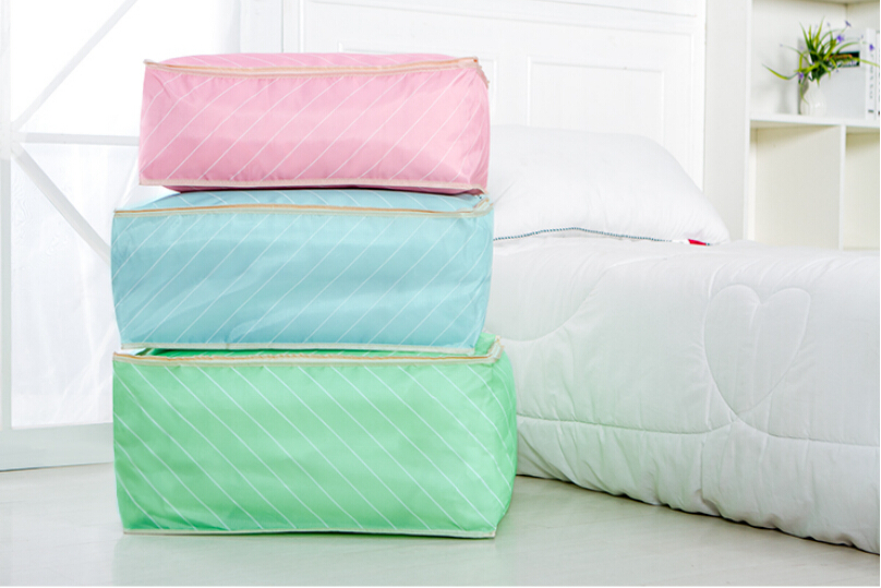 Waterproof Dustproof 2 Side Zipper Oxford Wardrobe Bedding Clothes Blanket Pillow Quilts Pouch Foldable Storage Bag 2 Sizes