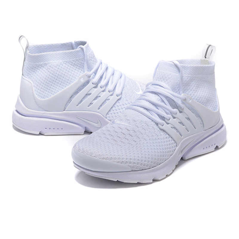 official photos ae2f6 a5c62 Nike Presto Flyknit Women's Running Shoes, White, Breathable Non-slip  Abrasion Resistan Lightweight 835570 100