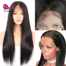 EAYON HAIR Glueless Lace Front Wig Human Hair Brazilian Straight Remy Wigs For Women Pre-plucked with Baby 13x4