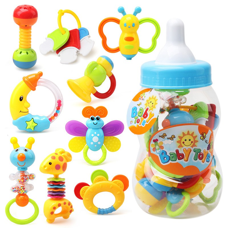 Newborn Baby Toy 0 1 Years Old Baby Boy Girl Toy Set Hand Teether