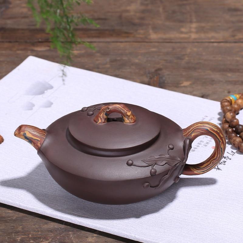 Заземление грязи ручной цветной рисунок или узор чайник оптом Агент скидка на плечо чай дома Прямая доставка - 2