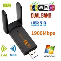 802.11AC Wireless USB adapter 1900Mbps USB Wifi adapter Dual Band WiFI 5ghz Adapter Network card Wifi Dongle AC wi fi receiver