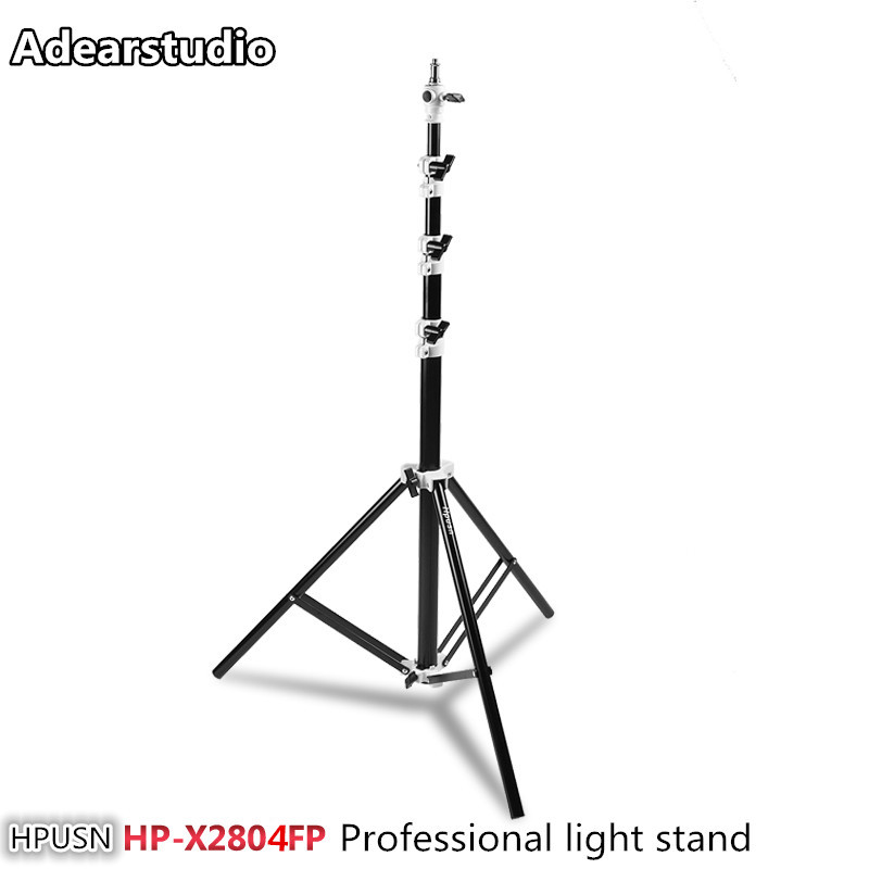 Hpusn HP-X2804FP studio photo accessories heavy duty air cushion light stand 2.8m Pressure lamp holder CD50 mz 2400fp 7 8 feet 240cm heavy duty cushioned premium black light stand for video portrait and product photography no00dc