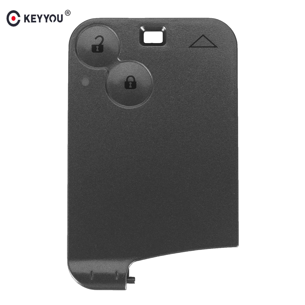 KEYYOU 20Pcs Lot Replacement 2 Button Smart Remote Key Fob Case Shell For Renault Laguna Espace