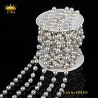 5 Meter 6mm Draht Gewickelt Runde Weiße Perle Lose Perlen Rosenkranz Ketten Messing Überzug Kupfer Links Ketten Handwerk Halskette groß BH04