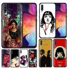film Pulp Fiction Silicone Soft Case for Samsung Galaxy A50 A40 A70 A30 A20 A80 A6 A7 A8 Plus A9 2018 Black Coque
