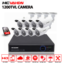 HD 1080P HDMI CCTV System 8CH 1080P AHD DVR Kit 1200tvl Indoor outdoor Metal Security Camera
