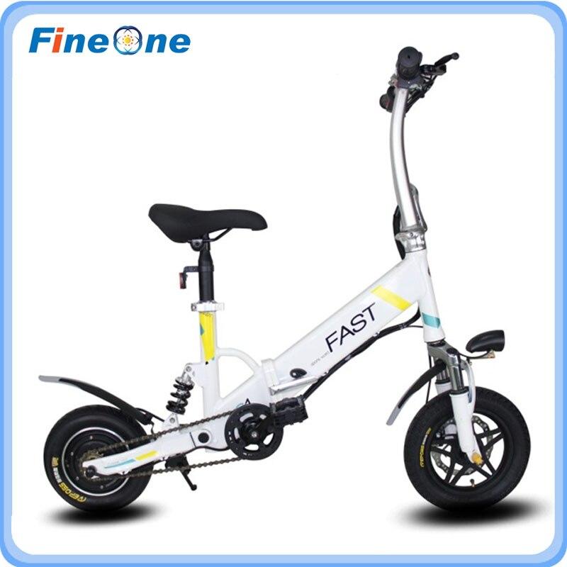 Elektro-scooter 100% QualitäT Lithium-batterie Power Unterstützung Falten Elektro-bike Roller Mit Mittleren Suspension Schock 12 Zoll Roller