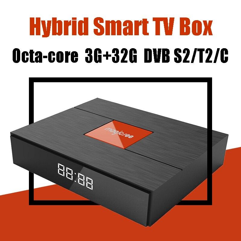 Magicsee C400 плюс 3g 32 г Amlogic S912 Восьмиядерный Hybrid Смарт ТВ коробка 3D 4 К DVB S2 T2 C двойной Wi-Fi Bluetooth 4,1 спутниковых ТВ коробка