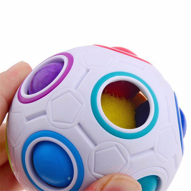 Creative Rainbow Football Puzzle Learning & Educational Toys For Children Kids Adult Spherical Magic Cube Toys 5