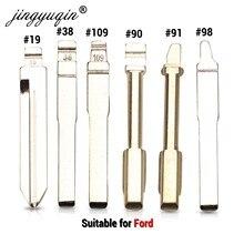 Jingyuqin 15 шт. HU101 FO21 FO38 откидной дистанционный Автомобильный Ключ заготовка для Ford Focus Mondeo CMAX FIESTA GALAX Blade NO.38 #19 90 91 98 109