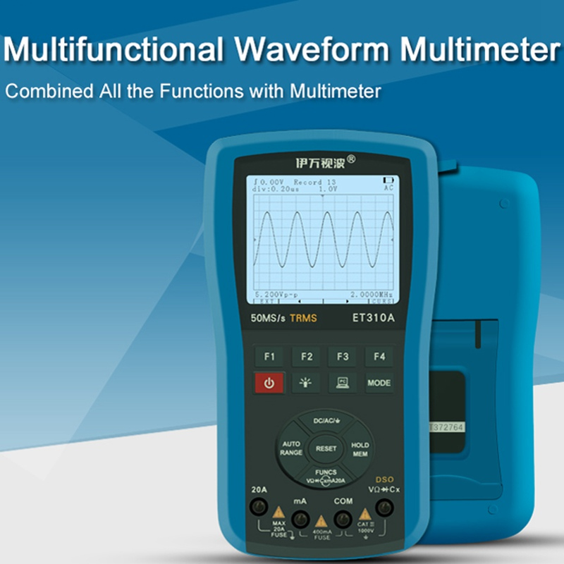 EONE ET310A Digital Waveform Multimeters Storage Oscilloscope Handheld ScopeMeter TRMS Multimeter Automatic Measurements цены