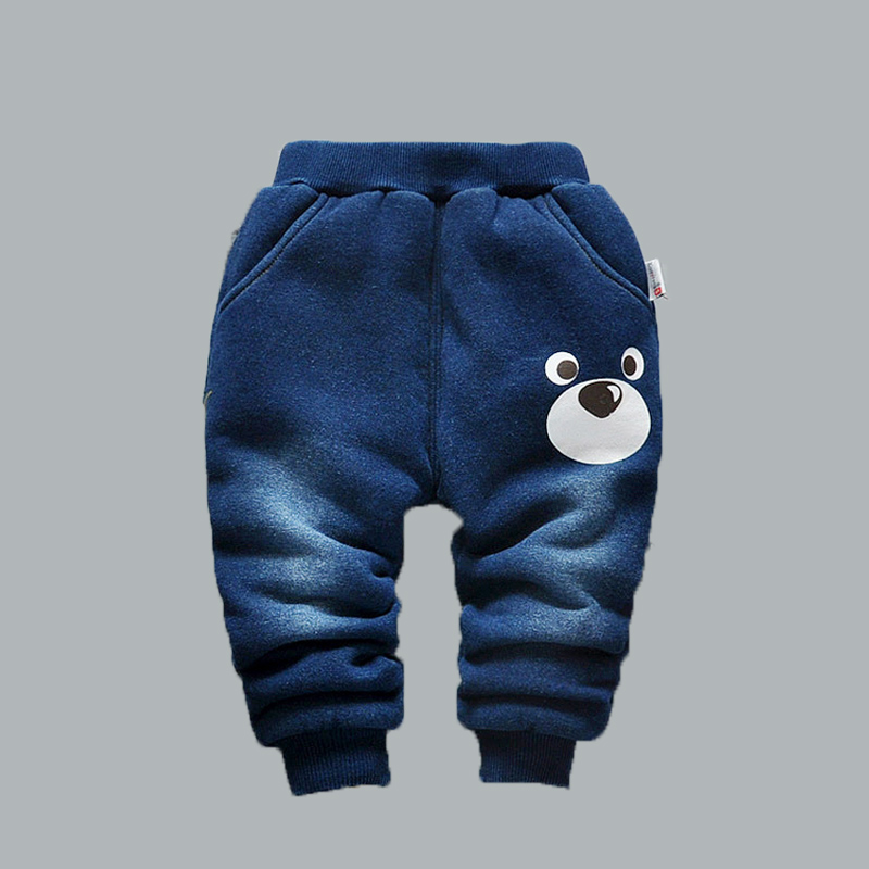 baby pants winter Boy very warm cotton-padded thick children trousers kids boy jeans color navy blue boys girls thermal 3 years new brand kids jeans boys casual winter thicken long jeans pants baby boy jeans cotton warm denim trousers boys fashion clothes