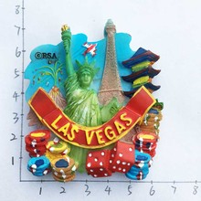 Las Vegas United States Las Vegas three-dimensional landscape travel refrigerator stickers