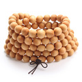 Natural fragrance Thuja Sutchuenensis 108 Beads Bracelet Prayer Necklace Buddha Meditation Prayer Bead Jewelry