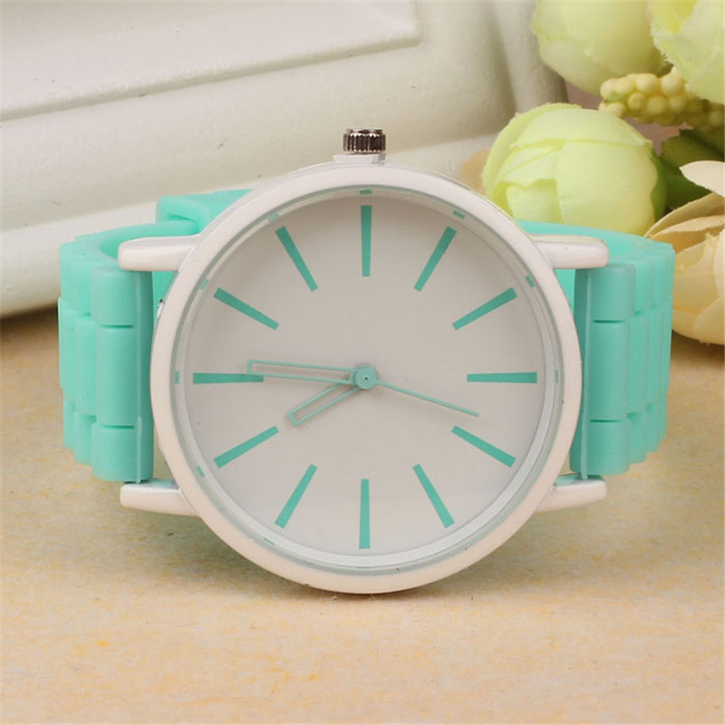 Luxury Women Watch Silicone Rubber Unisex Quartz Analog Sports Women Fashion Wrist Hot Pink For Lovely Girls #4m14 (31)