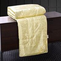 Четыре цвета тутового шелка покрывала для одеяла стеганое одеяло лето зима Король Королева Полный двойной размер пододеяльник, постельное ...
