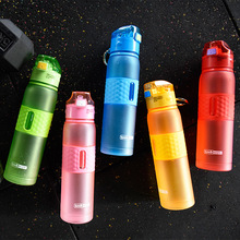 New 618ML Plastic water bottle with straw drink Tritan bpa free cute Tea filter bottles kids Sport Bicycle Outdoor gym Cup