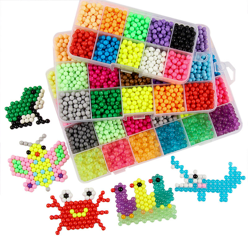 Aquabeads DIY Water Spray Magic Aqua Beads Hand Making 3D Puzzle Educational Kit Ball Game Montessori