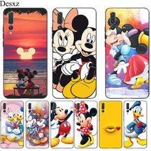 Silicone Mobile Phone Case For Huawei P30 P20 P10 P9 P8 Lite Pro P Smart Cover TPU Minnie Mouse Pooh Bear Shell(China)