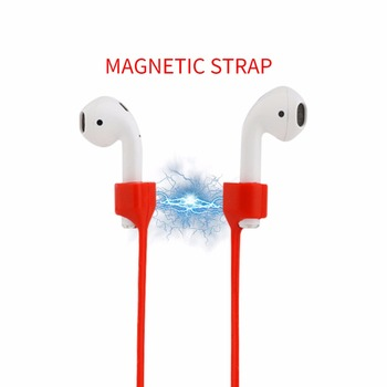 AirPods Strap Magnetic Anti-lost Neck Silicone Cord for Apple Wireless earphone holder air pods pro magnet Earpods 3 hook Sport for apple airpods 1 2 sports anti lost headphone cord high end magnetic anti lost headphone cord