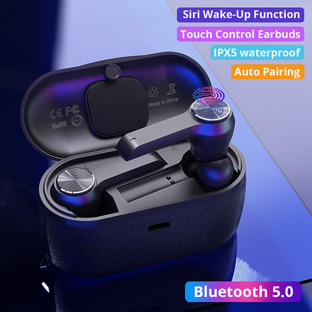 T10 True Wireless Earbuds TWS Bluetooth 5.0 Earphone with Dual Mic Touch Control Stereo Hifi 5 hours Playing auriculares