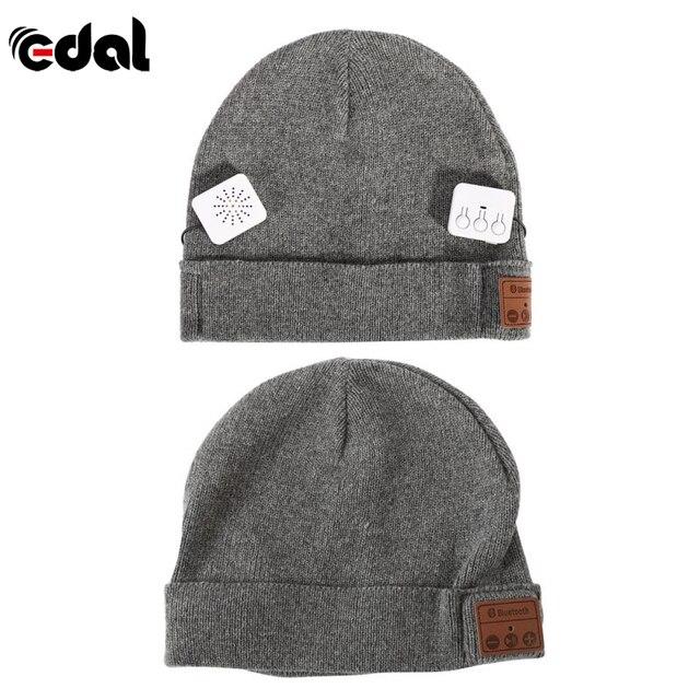 EDAL Inverno Caldo Morbido Auricolare Bluetooth Cuffia Beanie Cappello  Donna Uomo Unisex Protezione Intelligente Senza Fili ea03b1e6a02a