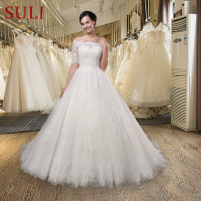 SuLi SL-015 Sexy Off Shoulder Ball Gown Wedding Dress