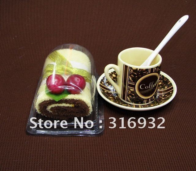 C5 Hot ! Fashion new creative gift towel cake, Swiss roll Cotton towel  , free shipping