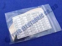 Free Shipping One Lot 0201 SMD Capacitor Assortment Kit 40value Total 2000pcs Chip Capacitors Pack