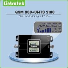 Двойной ЖК-дисплей усиление 65dB двухдиапазонный усилитель сигнала GSM 900 мГц + UMTS 2100 мГц 2 г 3G GSM WCDMA EDGE/HSPA мобильный ретранслятор сигнала