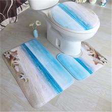 3pcs Bathroom Carpet Pedestal Rug Household Bathroom Non-slip Mat Lid Toilet Covers Bathroom Accessories Bath Mat Set цена 2017