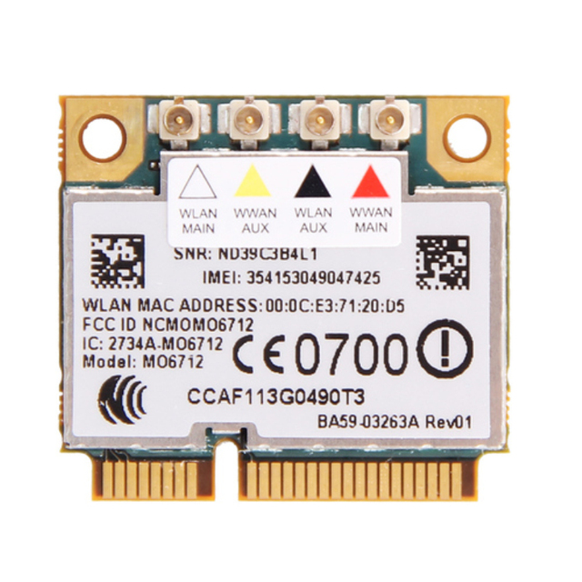 Opção GTM671W MO6712 Mini PCI-E WWAN 3G Sem Fio wifi Card HSDPA EDGE GPS WCDMA UMTS GSM Módulo