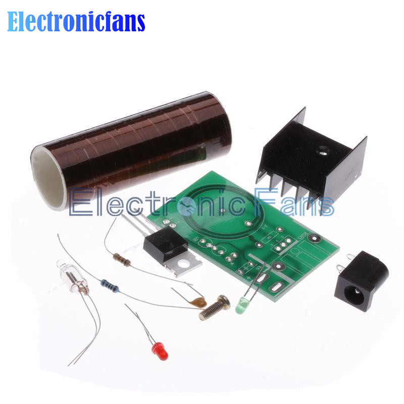 Mini DIY Tesla Coil Kit Arc Wireless Electric Power Transmission Lighting <font><b>Board</b></font> Module <font><b>12V</b></font> DC for <font><b>LED</b></font> <font><b>Circuits</b></font> Suites Learning image