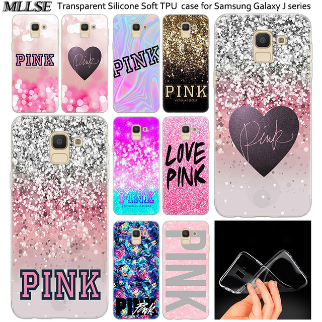 11f5e472412d3 US $2.69 |Hot Victoria Secret Pink Soft Silicone Case For Samsung Galaxy  J2Pro J4 J6 J8 2018 J3 J5 J7 2016 2017EU Prime CORE Plus Fashion-in Fitted  ...