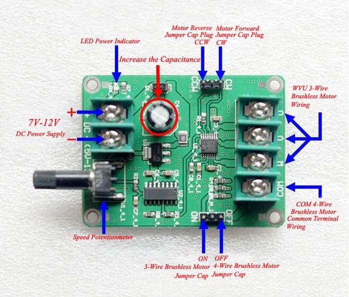 9v 12v dc brushless motor driver board hard disc motor for Brushless dc motor drive