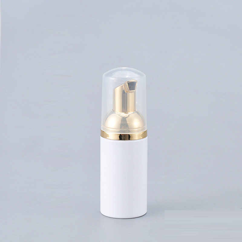 24X30 ml 50ml 80ml Liquido Bianco di Schiuma di Sapone Bottiglia Oro Formazione di Schiuma Dispenser Dispenser Contenitore di Pompa Detergente Viso crema di lavaggio Trucco FAI DA TE