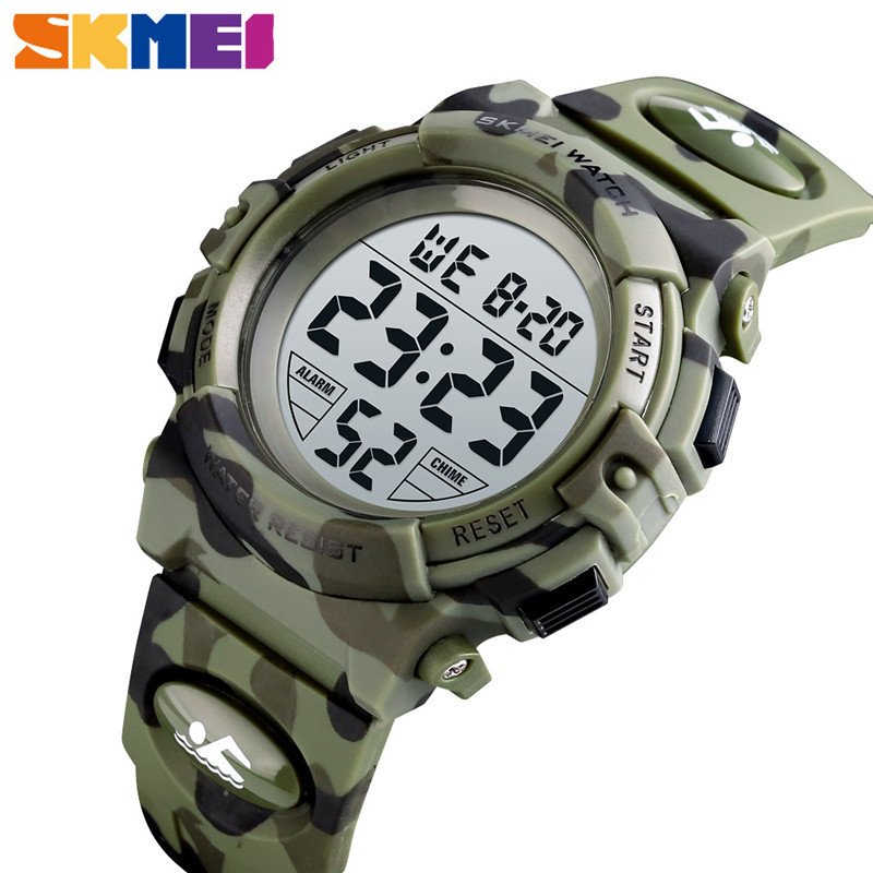 <font><b>SKMEI</b></font> Kids Watches Colorful LED Lights Children's Sport Digital Watch 5Bar Waterproof Camouflage relogio infantil Boys Girl <font><b>1548</b></font> image