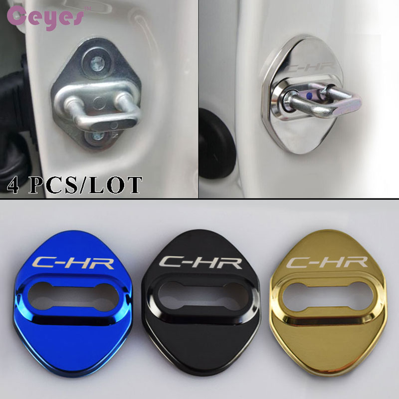 Door Lock Cover case for Toyota CHR Prius Verso C-HR Avensis Yaris Car
