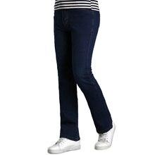 New Mens Flared Jeans Boot Cut Leg Flared Wlastic Slim Fit Mid Waist Male Designer Classic Denim Jeans Pants Bell Bottom Jeans