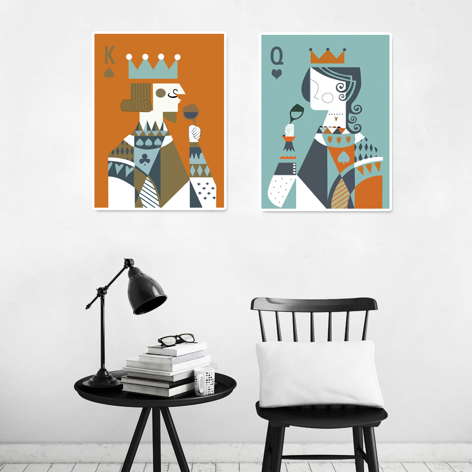Aliexpress.com : Buy King And Queen Wall Art Canvas Print