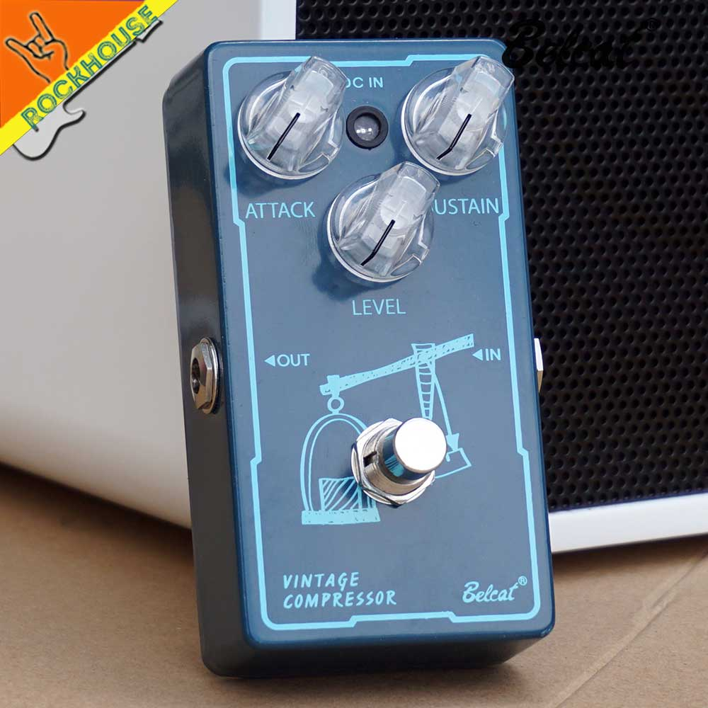 Belcat Vintage Compressor Guitar Effects Pedal Balance Dynamic output Level Analog Circuit True Bypass Free Shipping diy compressor pedal bass compressor effects pedal stompbox kit true bypass high quality