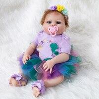 The New Reborn Doll be 55cm Silicone RebornToys Newborn Baby Dolls lol Surprice Realistic full Body Silicone Boneca Doll