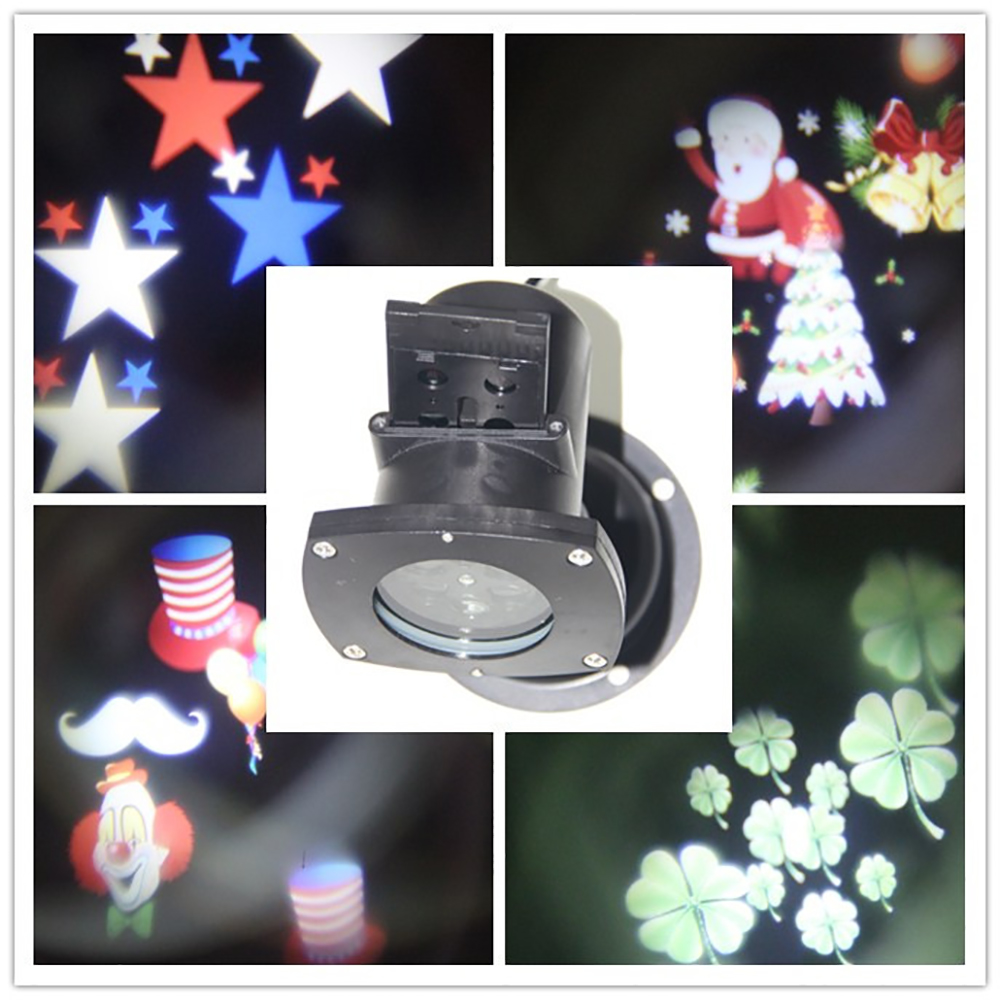 12 Modes LED DJ Spot Light Laser Pointer Disco Stage Light Party Pattern Lighting Projector Show IP65 Waterproof domitory blue mini laser pointer projector light dj disco laser stage lighting for xmas party show club bar wedding with eu us uk au plug