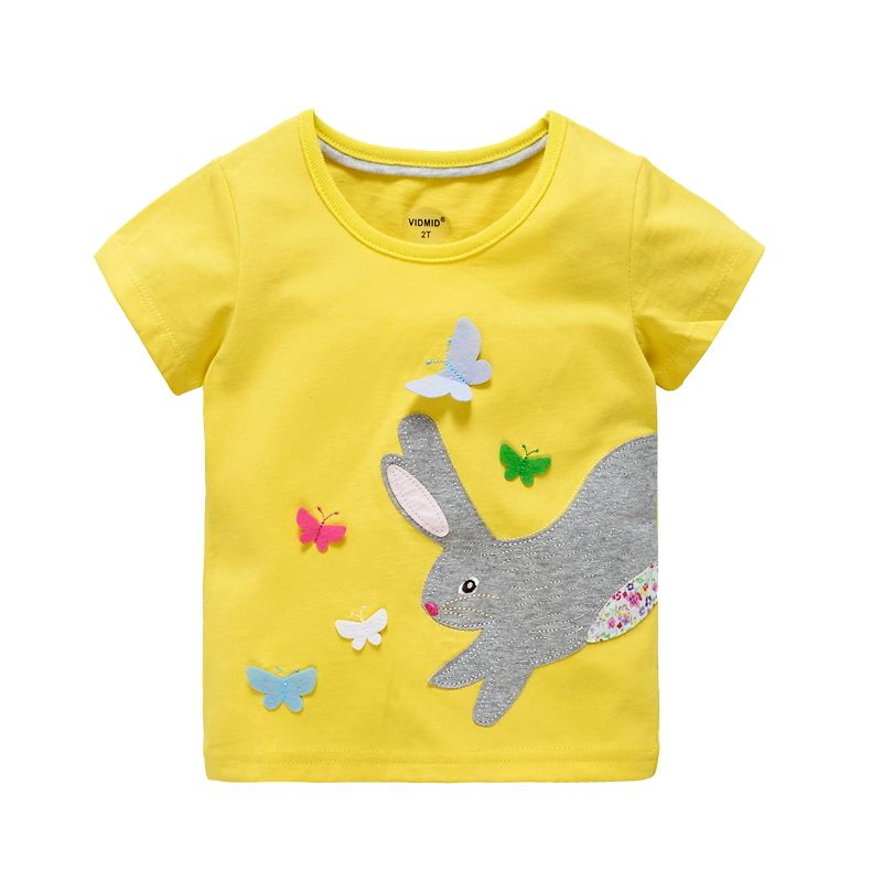 HTB1htjzPFXXXXb4XXXXq6xXFXXXE - VIDMID 2-10 years baby Girl t-shirt big Girls tee shirts for children girl blouse sale t shirt 100% cotton kids summer clothes